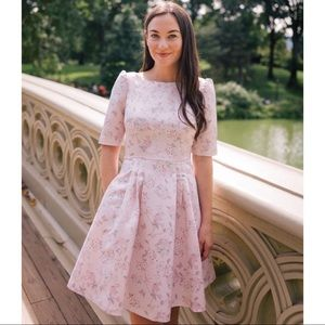 Gal Meets Glam Mary Dress Fit & Flare Pink Floral